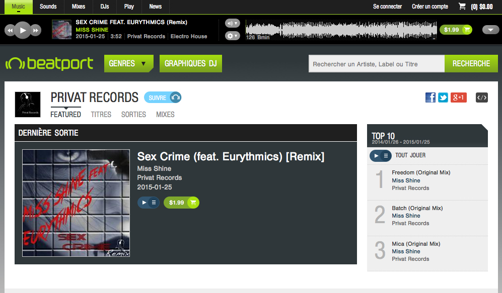Sex Crime - Miss Shine - beatport http://www.beatport.com/release/sex-crime-feat-eurythmics-remix/1450516